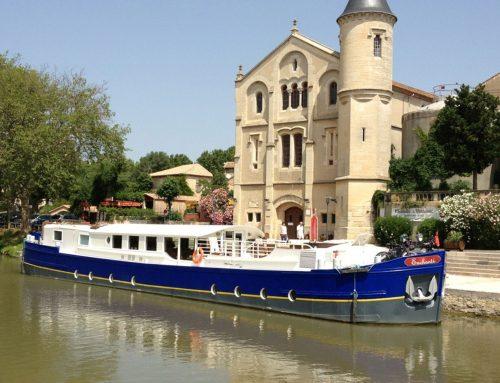 Enchanté moored at Ventenac